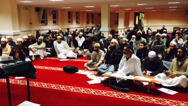Faith Associates CEO, Shaukat Warraich talks to Madrassah teachers with Lancashire Council for Mosques