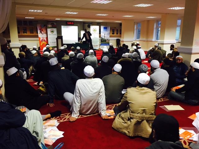 Faith Associates CEO, Shaukat Warraich talking to Madrassah teachers in Blackburn