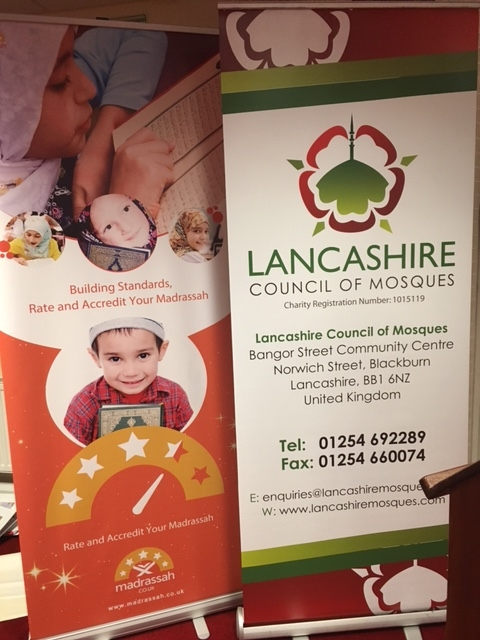 Madrassah and Lancashire Council for Mosques Banner