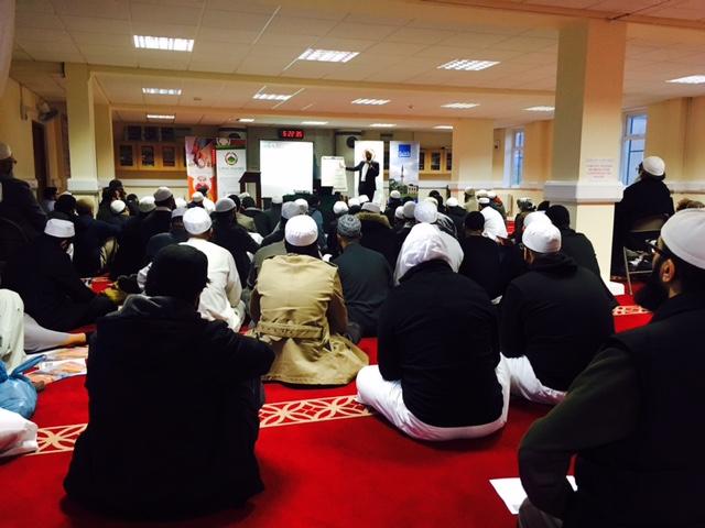 Faith Associates CEO, Shaukat Warraich, talks to Madrassah teachers in Blackburn