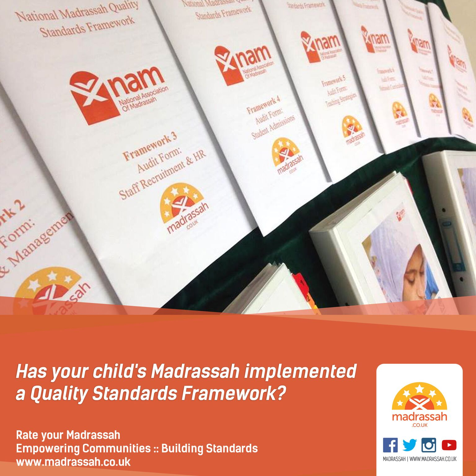 Has your child's madrassah implemented a Quality Standards Framework