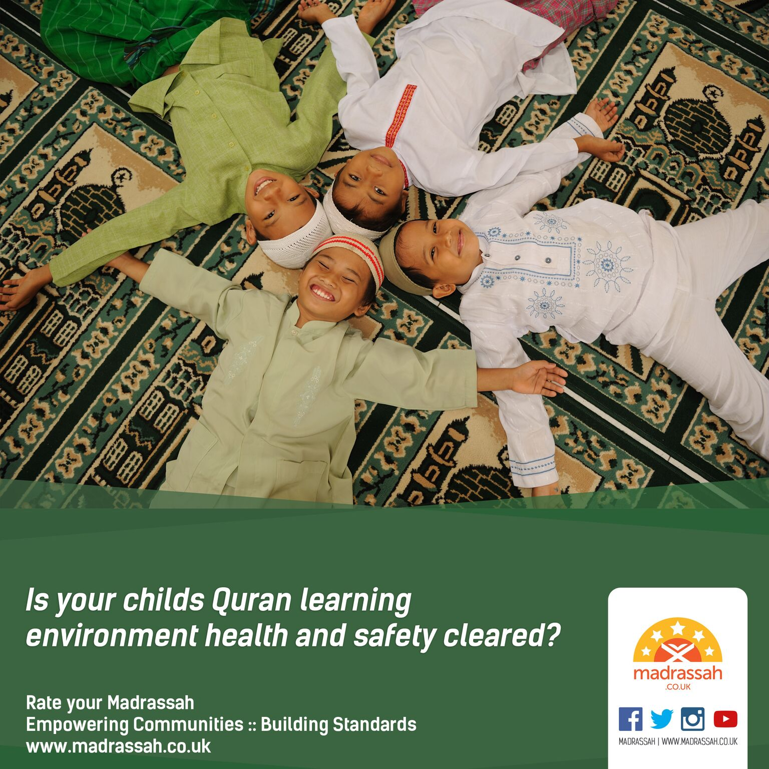Is your child's Quran enviornment health and safety cleared